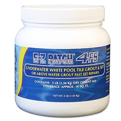 EZ Patch 4 Fast Set Underwater or Above Water White Pool Tile Grout Repair  Kit - 3 Pounds