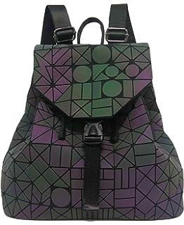 Roffatide Geométrico Luminoso Triángulos Láser Lentejuelas Mochila Bolsa de Hombro Personalidad Viaje para Mujeres y…
