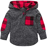 Iuhan Toddler Kid Baby Girl Plaid Hoodie Pocket Sweatshirt Pullover Tops Warm Clothes