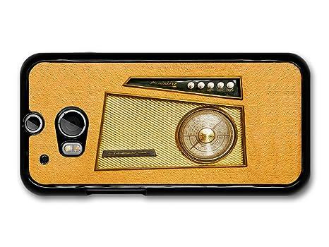 Cool Retro Orange Vinyl Radio Design Carcasa de HTC One M8 ...