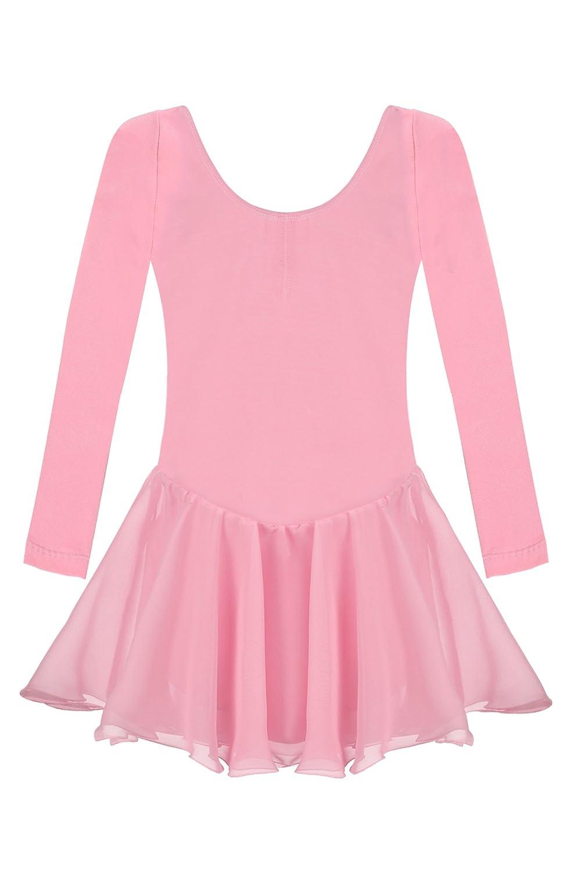 Arshiner Girls Classic Dance Ballet Dress Long Sleeve Leotard AS002419
