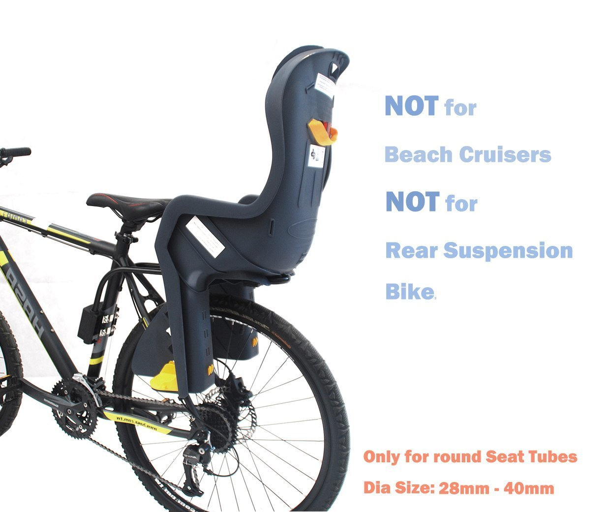 CyclingDeal Bike Baby Rear Seat with Handrail and Helmet by CyclingDeal (Image #2)