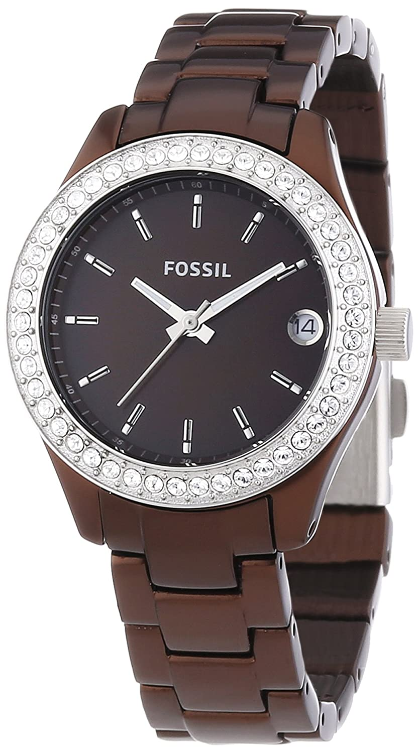 7e3be140cb4 Fossil Ladies Mini Stella Aluminium Watch Es2963 With Brown Dial ...