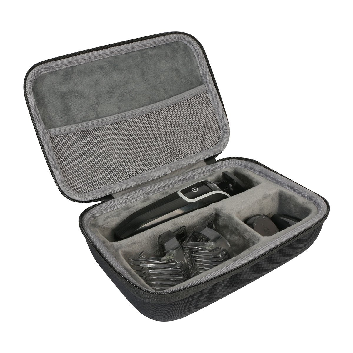 Hard Travel Case for Philips Norelco Multigroom 3100 / 5100 / 7100 QG3330/49 QG3364/49 QG3390 attachments Skin-friendly blades by co2CREA