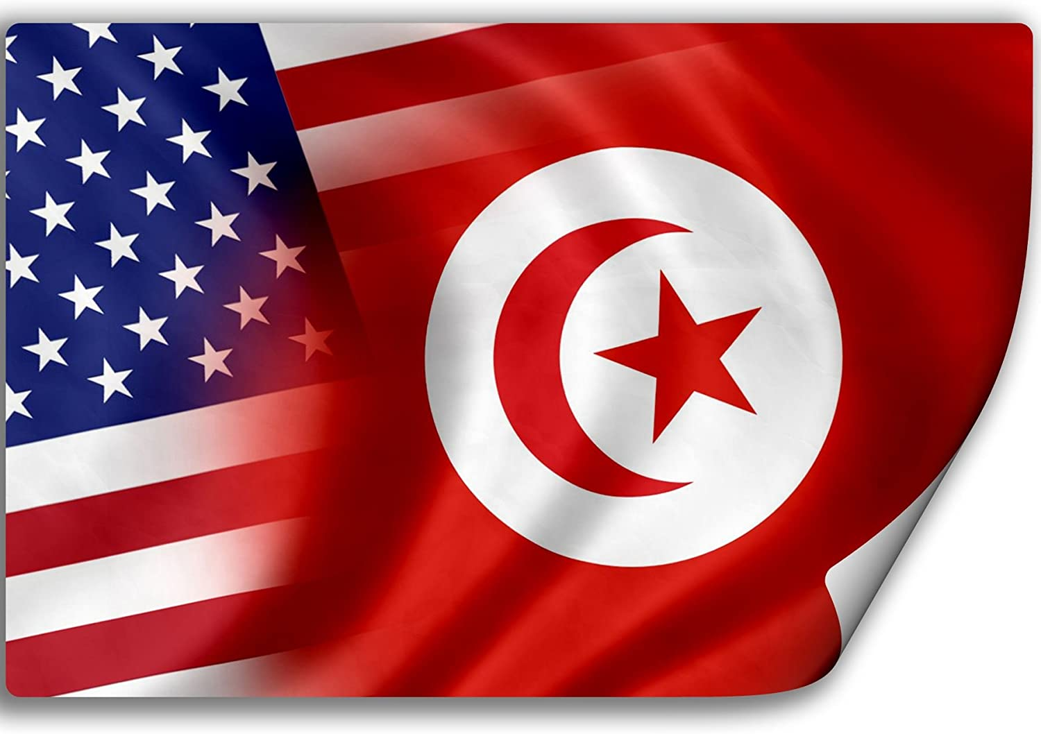 Amazon Com Expressitbest Sticker Decal With Flag Of Tunisia And Usa Tunisian Furniture Decor