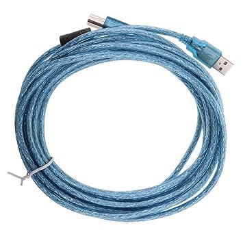 Cable de Impresora USB de Macho 2,0 Enchufe de Plomo Escáneres ...