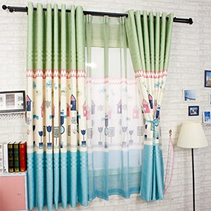 LIANGLAOI Curtain Living Room,Thermal Insulated Blackout Balcony Short Half Thicker Children's Room 1 Piece-J 250x200cm(98x79inch)
