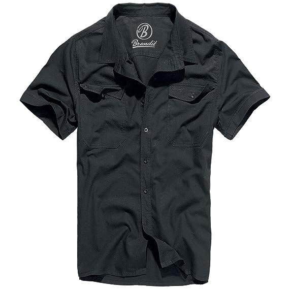 Brandit Roadstar - Camisa casual - con botones - manga corta - para hombre: Amazon.es: Ropa y accesorios