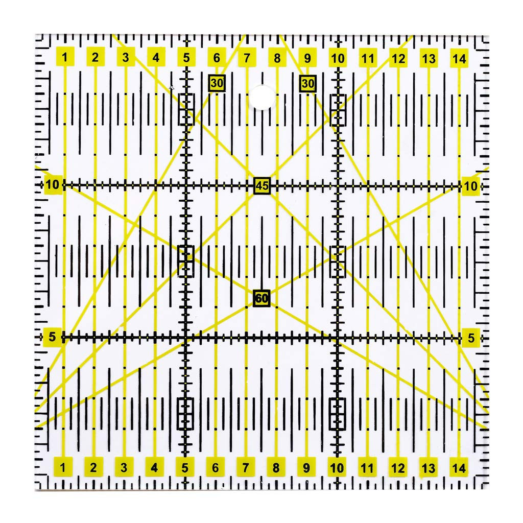 FURU Kit De R/ègle Couture Pour Conception 3pcs Clair Quilting Yardstick Rulers Patchwork Couture R/ègle Outil De Coupe Craft DIY