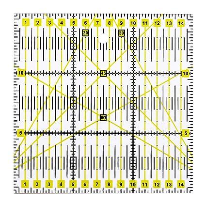 kingpo DIY Patchwork Regla de acr/ílico Bicolor Hecha a Mano Regla Horizontal Color Patchwork Tool Set de Regla