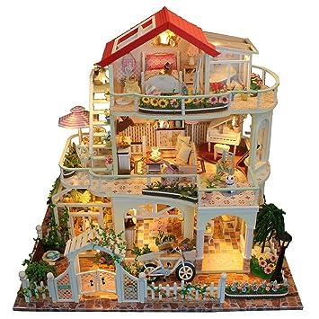 Luerme Maison De Poupee Miniature Diy Maison A Construire