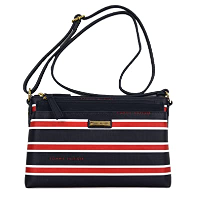 b883d62df5a Image Unavailable. Image not available for. Color: Tommy Hilfiger Striped  Crossbody With Pouch Set