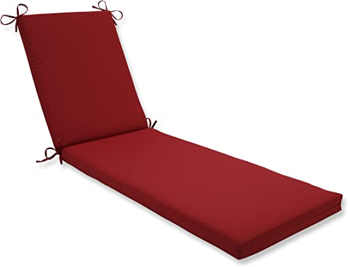 Pillow Perfect Outdoor Indoor Pompeii Chaise Lounge Cushion, 80 x 23 , Red