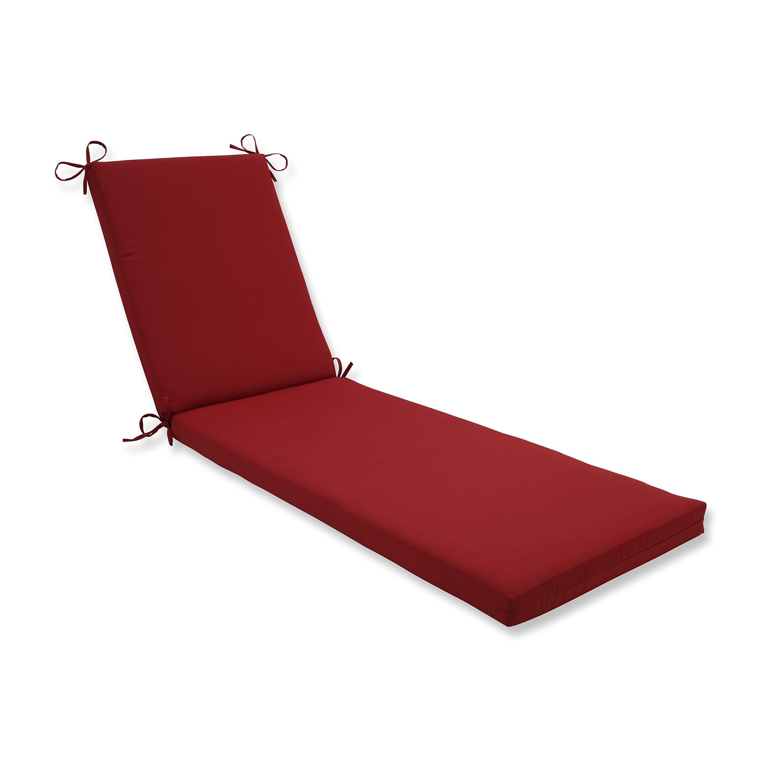 Pillow Perfect Outdoor/Indoor Pompeii Red Chaise Lounge Cushion 80x23x3