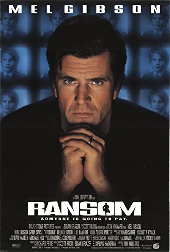 "Ransom 1996 Authentic 27"" x 41"" Original Movie Poster Rolled Fine Mel Gibson Thriller"