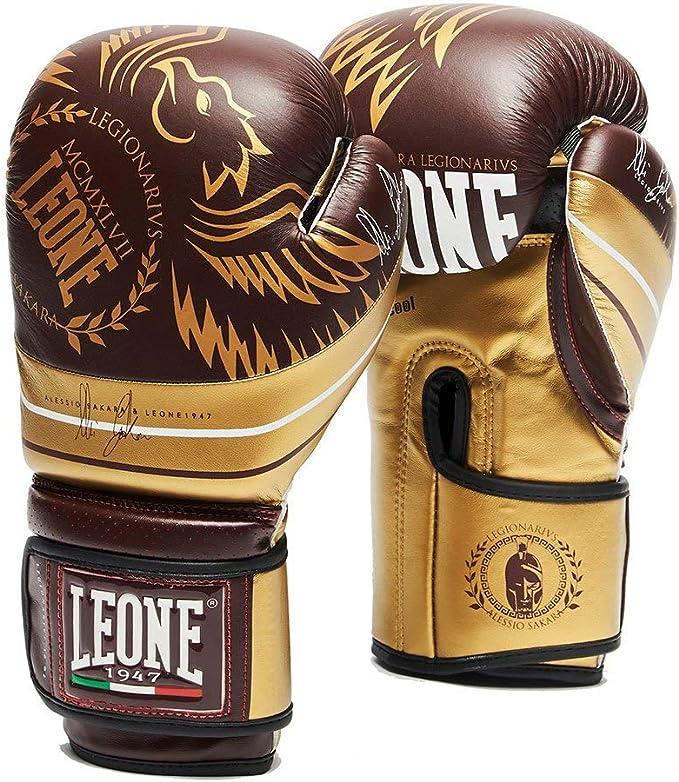 Guantoni Boxe Leone 1947 -  legionarivs guanti da boxe, unisex – adulto, bordeaux, 10 oz GN202 Alessio sakara
