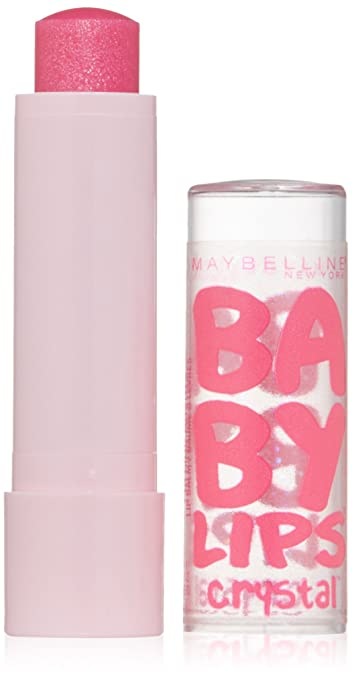 Maybelline New York Baby Lips Crystal Lip Balm, Pink Quartz, 0.15 Ounce