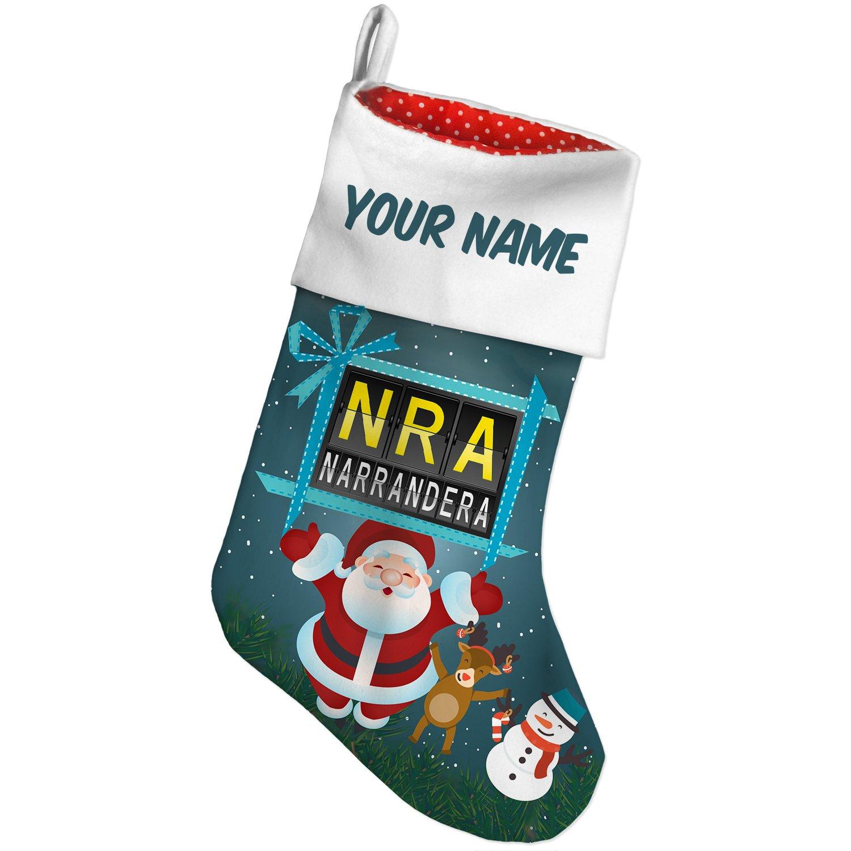 Amazon.com: Christmas Stocking NRA Airport Code for Narrandera Xmas ...
