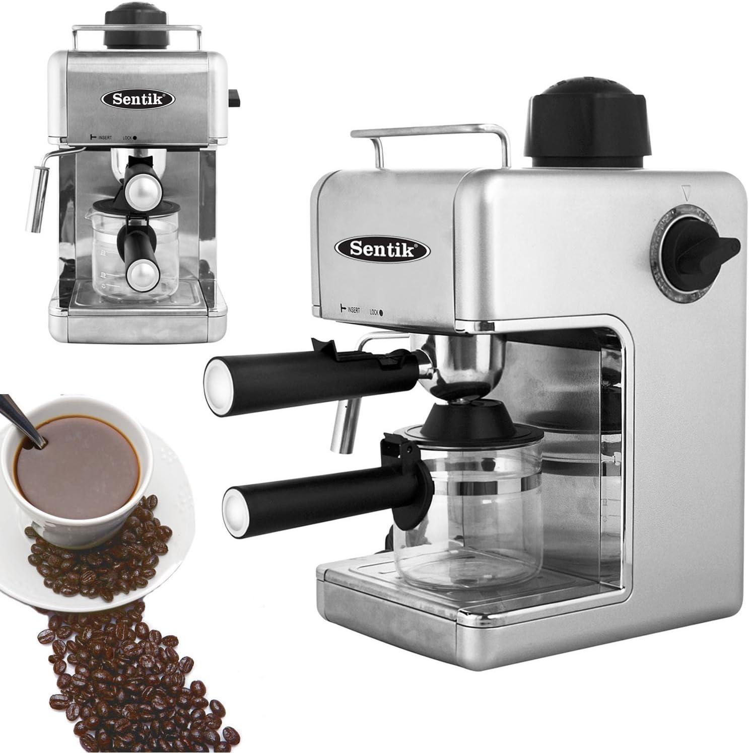 para el hogar o la oficina Cafetera de espresso o capuchino negro el/éctrica y profesional
