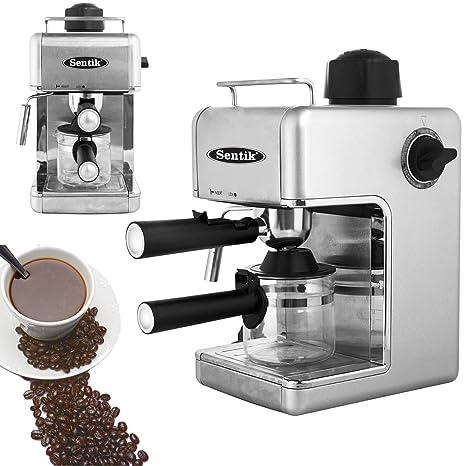 Sentik Profesional Expreso Capuccino Máquina De Café Hogar - Oficina - Plateado