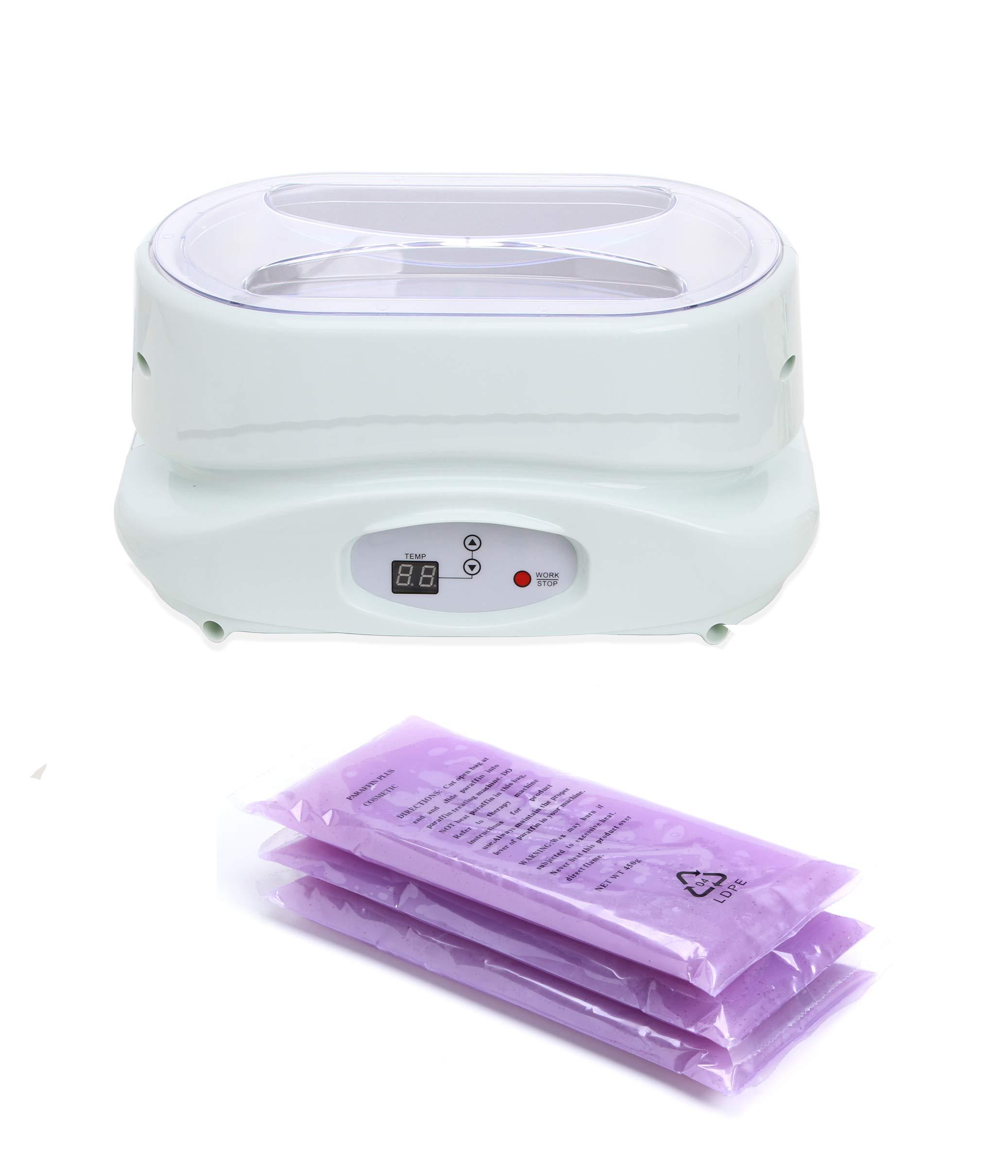 Digital Paraffin Bath Wax Warmer Heater with Gloves and Wax TLC-5010W by eMark Beauty
