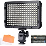 Tolifo Video Light, 176pcs LED Dimmable High Power Photography Studio Photo Lighting Panel for Canon Nikon Sony DSLR Camera Camcorder with F550 Battery and 2 Filters