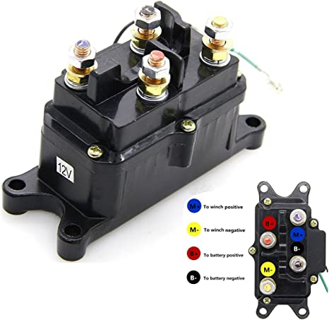 12V 250A Winch Solenoid Relay Contactor Thumb Truck for ATV UTV 4x4 Kfi Atv Contactor Wiring Diagram on
