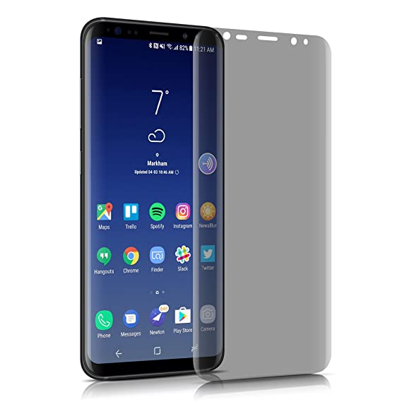 Samsung Galaxy S8 Tempered Glass Privacy Screen Protector,MOZEEDA Anti Spy  Privacy Glass Screen Protector for Galaxy S8,Anti