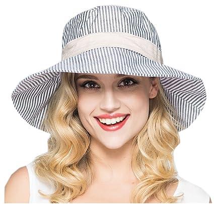 87d55988dc27b Amazon.com  Fashion Stripes Bucket Hats