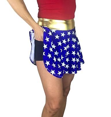 Smash Dandy Wonder Woman Disfraz de Falda atlética para Correr ...