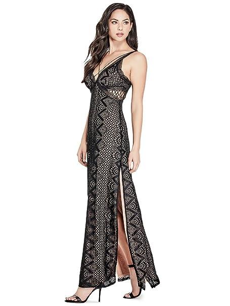 83f8417ab6c8 Guess donna W81K90R72J0 vestito da sera casual chic - nero - M  Amazon.it   Abbigliamento