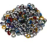 """TOOGOO(R) 200 Pieces Multicolore Metal Oeillet Grommet pour l'artisanat de cuir 0.35"""""""