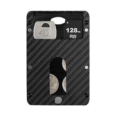 new styles 8838f 454f8 PITAKA Magwallet,Minimalist Slim Carbon Fiber Modular Card Holder RFID  Blocking Wallet-Matte Finish/Twill