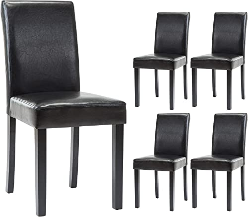 Dining Chairs Dining/Living Room Kitchen Chairs PU Leather Padded Chair