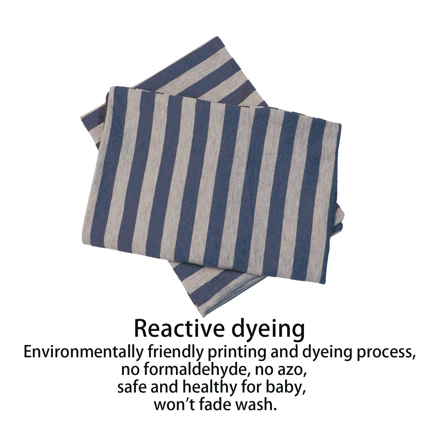 Soft and Breathable NTBAY 100/% Organic Cotton Toddler Pillowcases Set of 2 Dark Blue and Grey 13x 18
