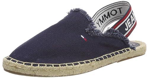 Tommy Jeans Pop Webbing Slingback Espadrille, Alpargata para Mujer: Amazon.es: Zapatos y complementos