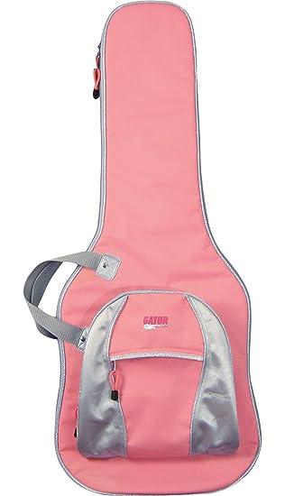 Gator – Estuche para guitarra eléctrica, color rosa guitarras accesorios para guitarras eléctricas