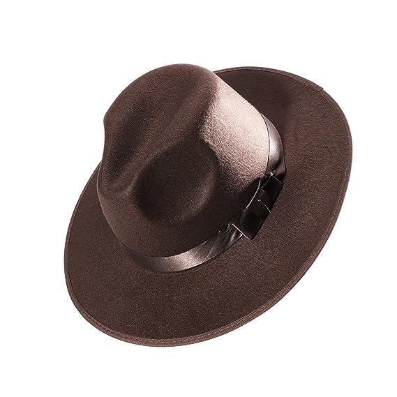 LUOEM Sombrero de Jazz de Ala Ancha Gorro de Playa de Sol Modelo para  Hombre Mujer dee1da30a62