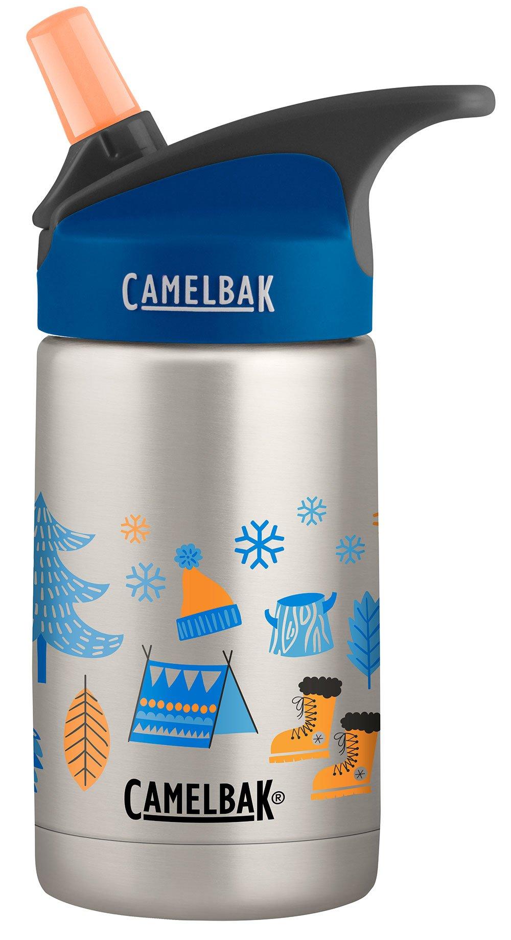 CamelBak Eddy Kids Vacuum Stainless Winter Adventures, Grey, 12 Oz