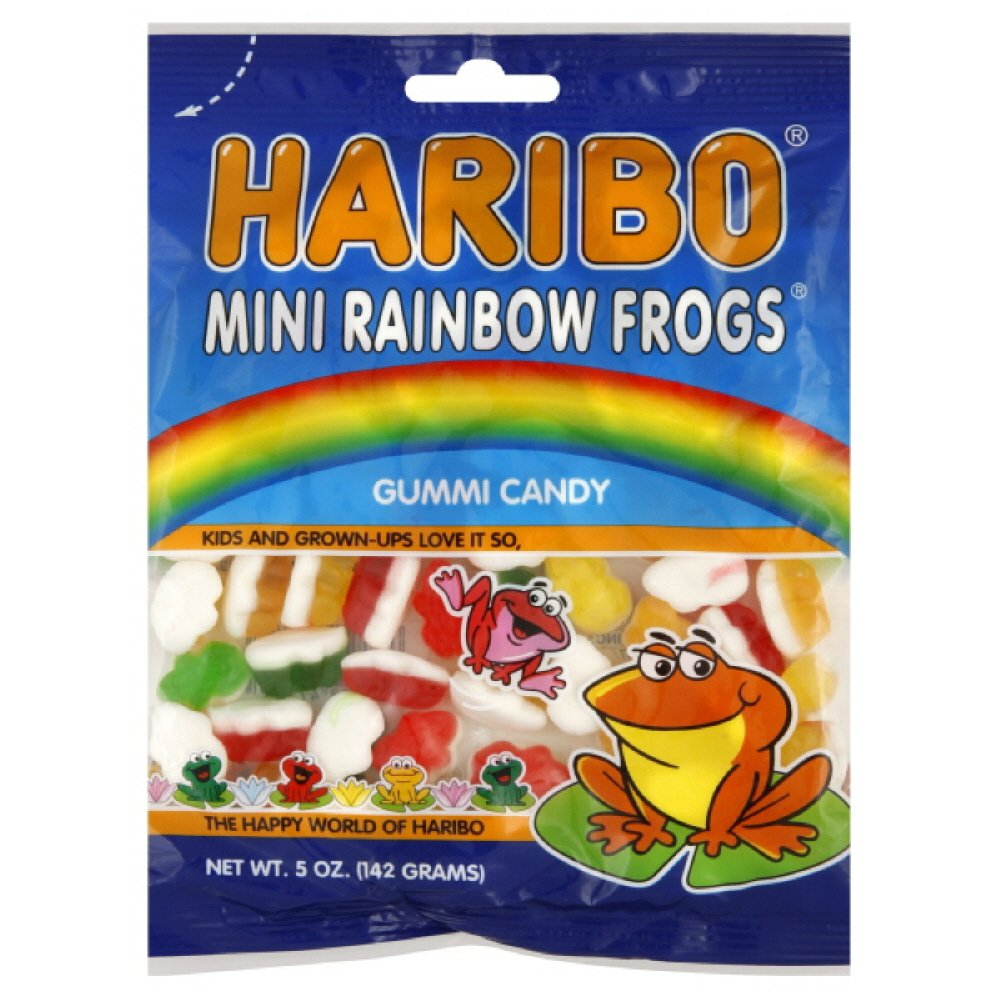 Haribo Mini Rainbow Frogs, 5-ounces (Pack of12) by Haribo