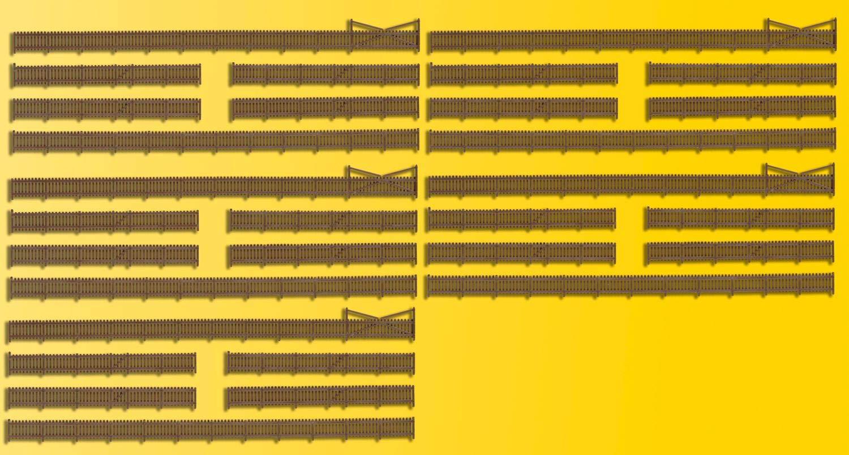 N Fence with gates L = 230cm