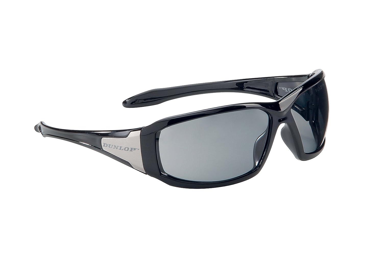 Dunlop Sportmax GT - Gafas de protección con lente oscura, color negro