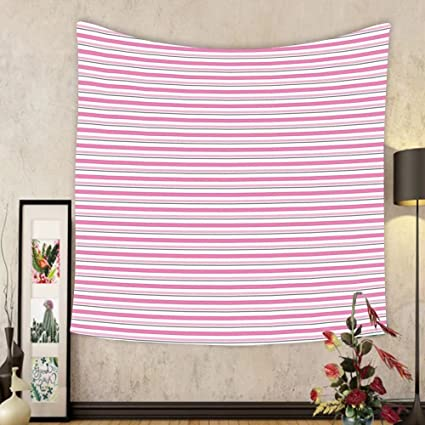Amazon.com: Gzhihine Custom tapestry Geometric Tapestry Pink Toned ...