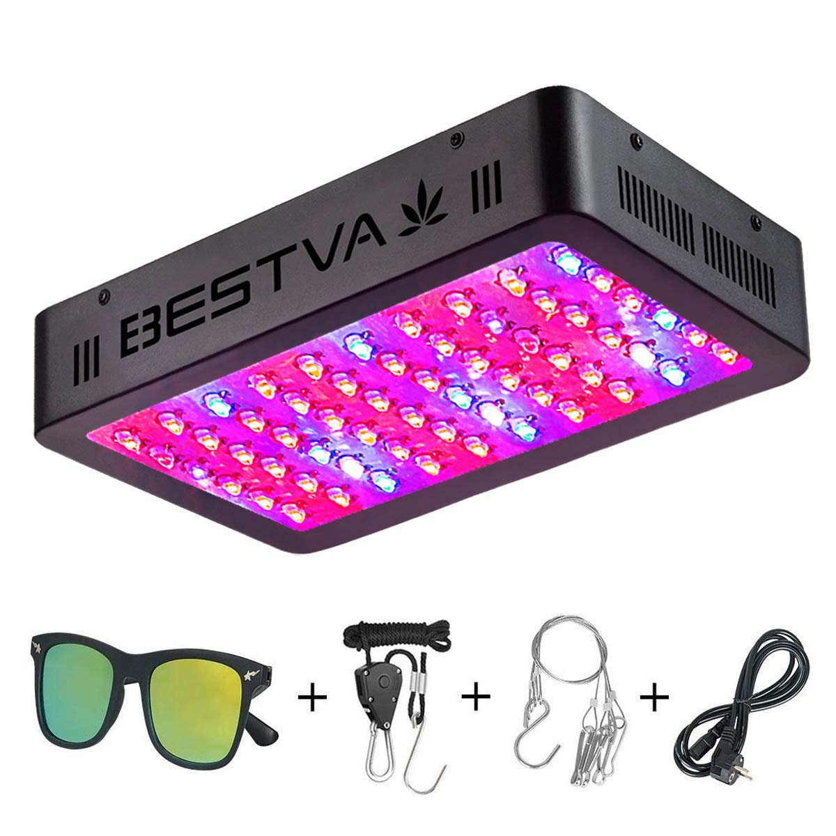 BESTVA 600W LED Grow Light Full Spectrum Dual-Chip Growing Lamp for Hydroponic Indoor Plants Veg and Flower by BESTVA (Image #1)