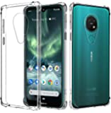 for Nokia 7.2 Case, Shockproof Clear Gel Heavy Duty Tough Anti Knock Air Cushion Protective Cover