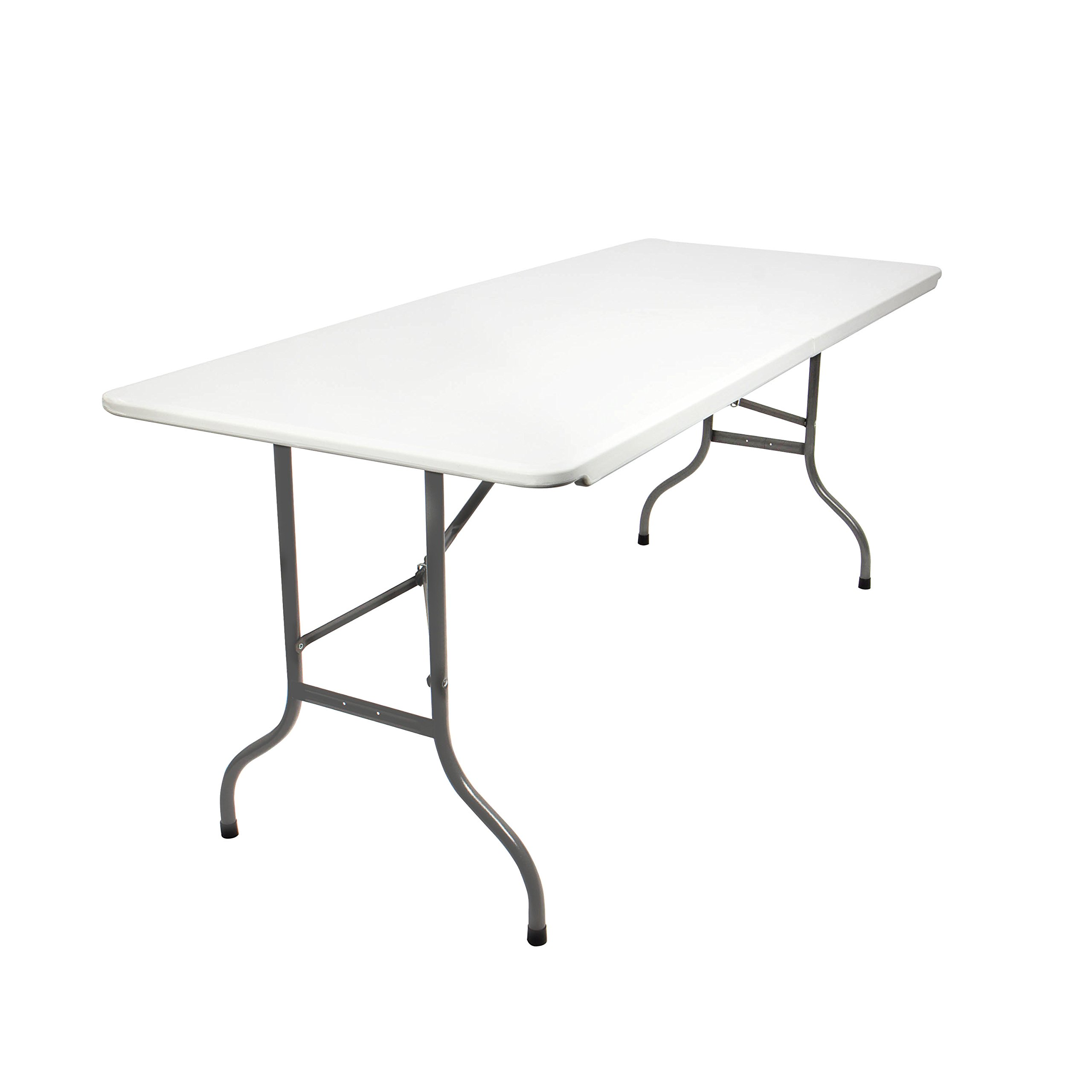 2235b273dbe41 Vanage Garden Table Fred in White - Folding Table Well Suited as a Party  Table or Buffet Table for Garden, Terrace and Balcony - Made of HDPE Plastic  with ...
