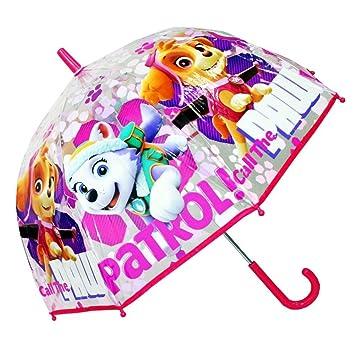 Paw Patrol - Patrulla Canina - Niños paraguas transparente - para las niñas