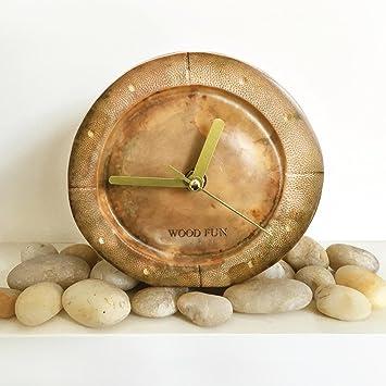 Vintage Retro Holz Bambus Wanduhr Mauer Uhrendekorative Dekoration
