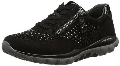 Gabor Shoes Damen Rollingsoft Sneakers, Schwarz (Schwarz 47), 37 EU