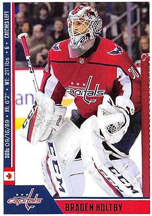 Amazon Com 2018 19 Panini Nhl Stickers 255 Braden Holtby Washington Capitals Nhl Hockey Trading Sticker Card Collectibles Fine Art